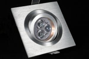 Aluminium desgn inbouwspot kantelbaar