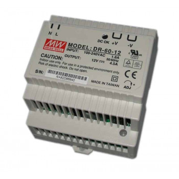 DIN RAIL voeding 60W – 12v – Meanwell