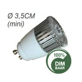 Mini GU10 LED spot 35mm dimbaar 4,5W
