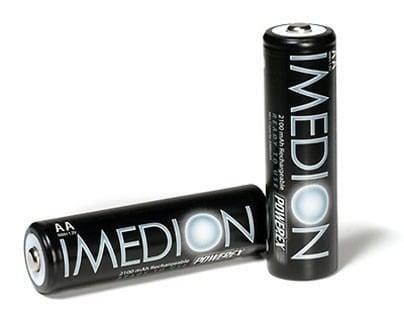Herlaadbare Imedion AA-batterijen – 1,2V 2400mAh – NiMH – 4 stuks