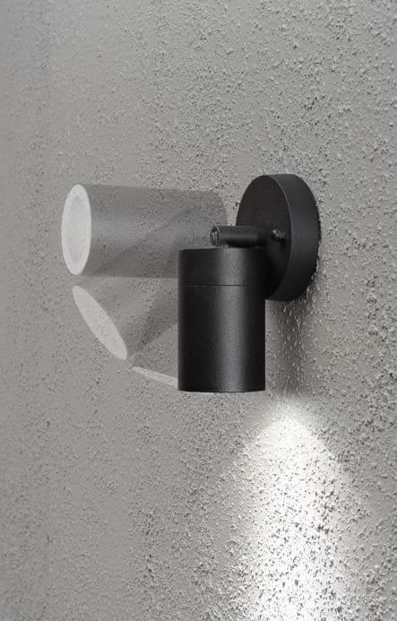 Zwarte wandlamp led spot