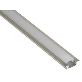 Aluminium LED strip Profiel Standaard inbouw + cover
