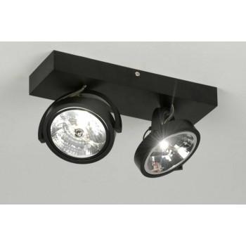 Plafond lamp 2x ar111 mat zwart