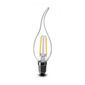 E14 filament LED kaars 2W 2700k warm-wit dimbaar