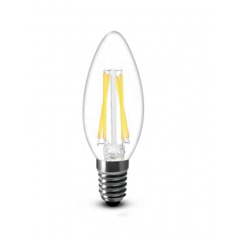 E14 filament LED kaars 4W 2700k warm-wit dimbaar