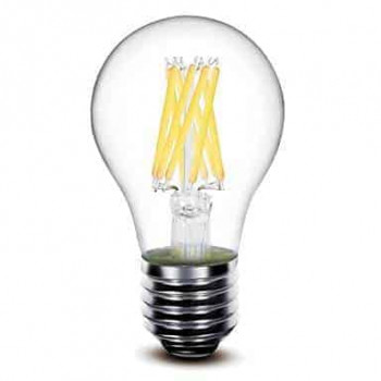E27 filament LED lamp 8W dimbaar 2700k