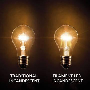 E27 filament LED lamp 8W dimbaar