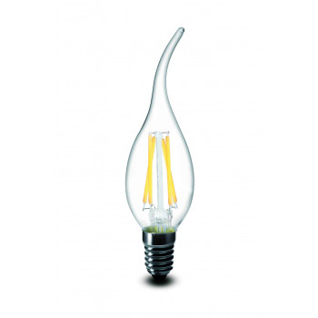 E14 filament LED kaars 4W 2700k warm-wit dimbaar krul top
