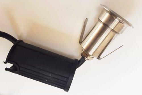 RVS LED Grondspotje koud-wit IP65