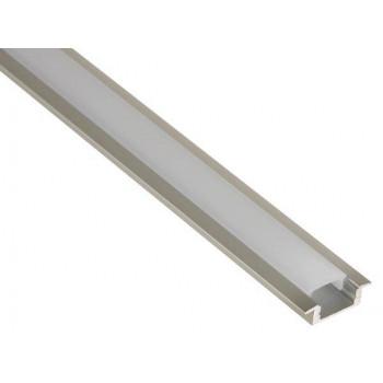 Aluminium inbouw profiel Laag model – smal + cover