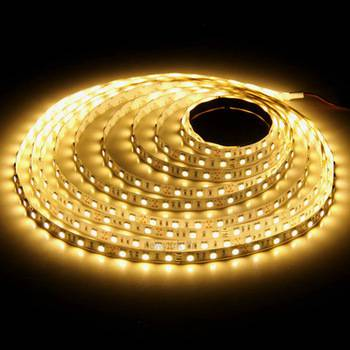 LED strip 12v 5m 300SMD 3528 warm-wit 3000k