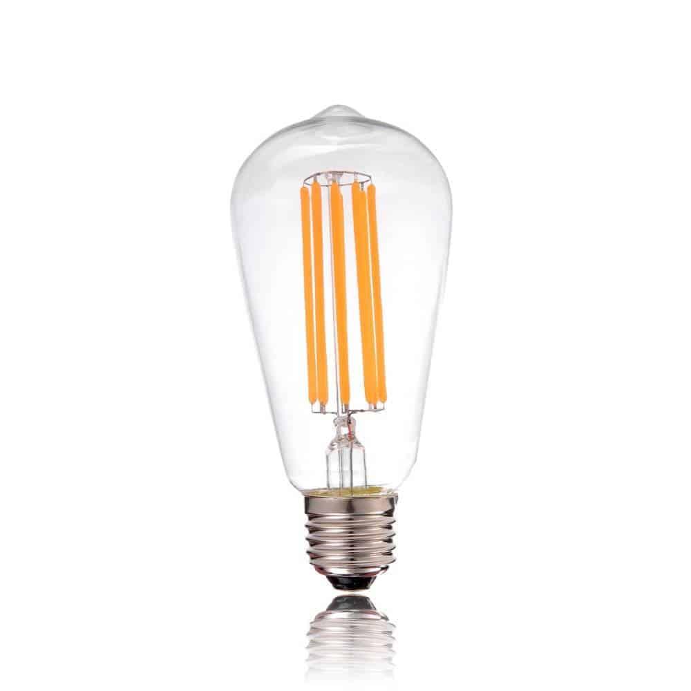 e27 led lamp 8w 60w rustieke sfeer 2200k dimbaar st64 yarled. Black Bedroom Furniture Sets. Home Design Ideas