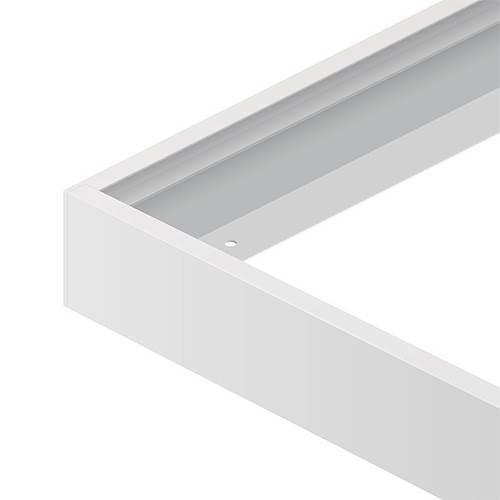 led paneel 60 x 60 cm 40w met wit opbouw frame yarled. Black Bedroom Furniture Sets. Home Design Ideas