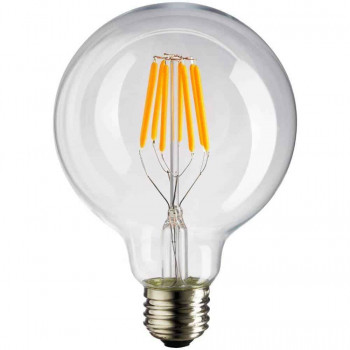 E27 LED bol 125mm 2700k 8W filament dimbaar G125