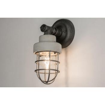 Stoere Wandlamp met LED lamp 6w